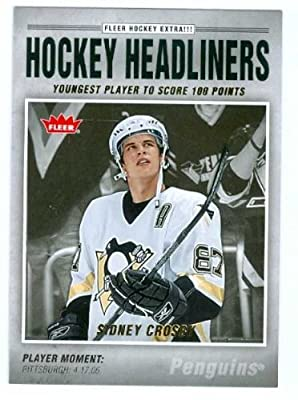 Sidney Crosby hockey card 2006 Fleer Hockey Headliners #HL1 (Pittsburgh Penguins) Rookie Card