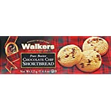 Walkers Pure Butter Shortbread-Chocolate Chip Cookies, 125 Gram (Pack of 4)