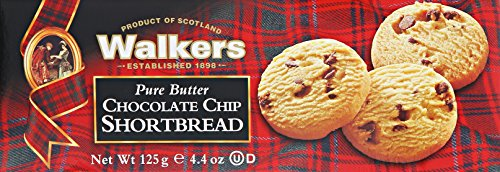 Walkers Shortbread Chocolate Chip, 4.4-Ounce (Pack of 4) (Chocolate Chip Shortbread Cookies)