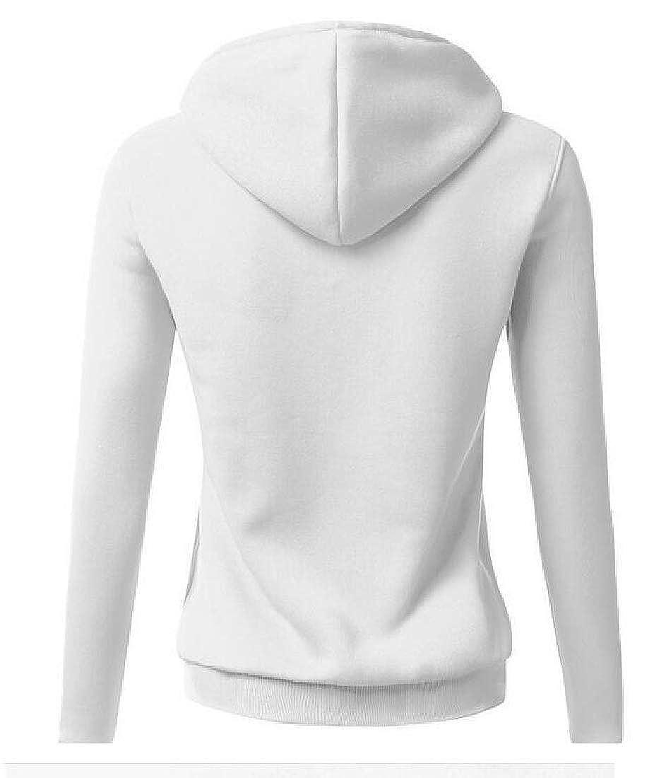 Macondoo Womens Juniors Tops Hoodie Pullover Letters Print Sweatshirts