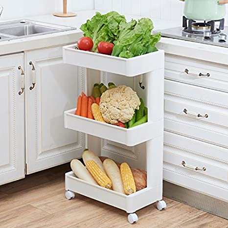Beau ALLZONE Slim Slide Out Storage Tower, Rolling Laundry Cart, Mobile Shelving  Unit Organizer,