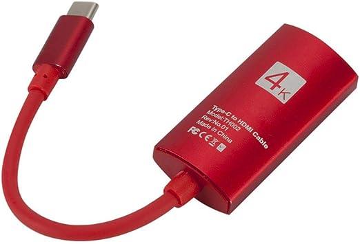 UHAoo - Cable Adaptador USB 3.1 Tipo C Macho a HD Hembra, Cable ...