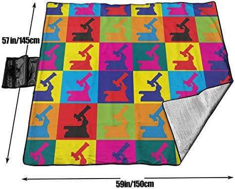 GuyIvan Coperta da Picnic Fisiologia Pop Art Tote da Spiaggia Colorata Antisdrucciolevole Tote per Campeggio Escursionismo Erba Viaggiare 145X150 cm