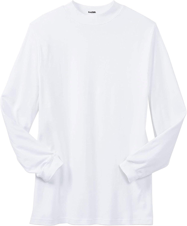 KingSize Mens Big /& Tall Mock Turtleneck Long-Sleeve Cotton Tee