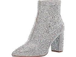 Women's Rhinestone Studded Fashion Boot