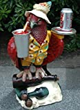 Parrot Butler Statue bird drink serving silver tray 2' waiter restaurant kitchen