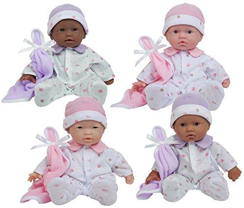 Becker's School Supplies Sweet and Soft Babies Doll Set, (Set of 4) ()