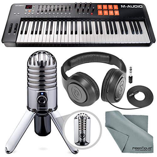 M-Audio Oxygen 61 IV USB MIDI Keyboard Controller Bundled with Samson Meteor USB Studio Condenser Microphone Bundle