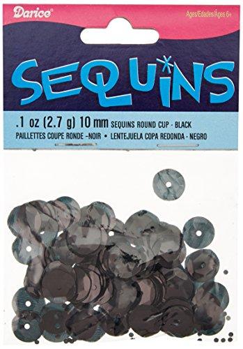 Cupped Sequins 10mm 120/Pkg-Black
