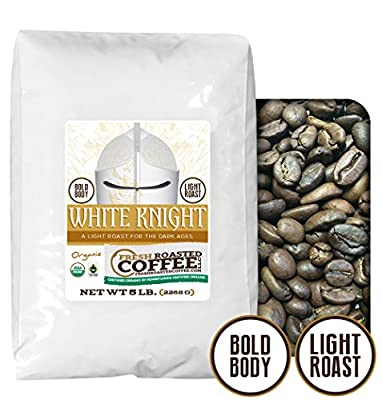 White Knight Light Roast OFT, Whole bean coffee, Fresh Roasted Coffee LLC.