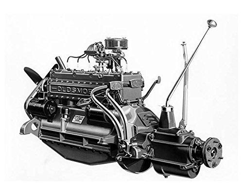 Print Unit Assembly (1931 Oldsmobile Unit Power Plant Assembly Factory Photo)