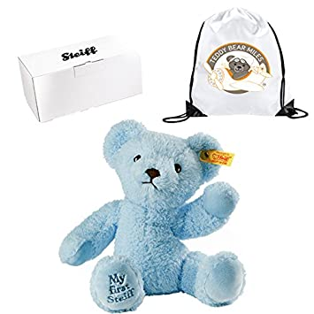 Top Selling Original Authentic Steiff My First Blue Bear 24 cm and Reusable  Gift Bag - Put A Smile On Their Face - Infants Newborn New Arrival Baby  Boys ... 2c43199a01f01