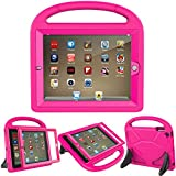 LEDNICEKER Kids Case for iPad 2 3 4 with Built-in Screen Protector - Shock Proof Light Weight Handle Friendly Convertible Stand Protective Kids Case for iPad 2, 3rd Gen, iPad 4th Generation - Rose