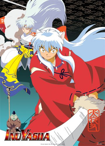 Great Eastern Entertainment Inuyasha Sesshomaru Group Wall Scroll, 33 by 44-Inch 9421