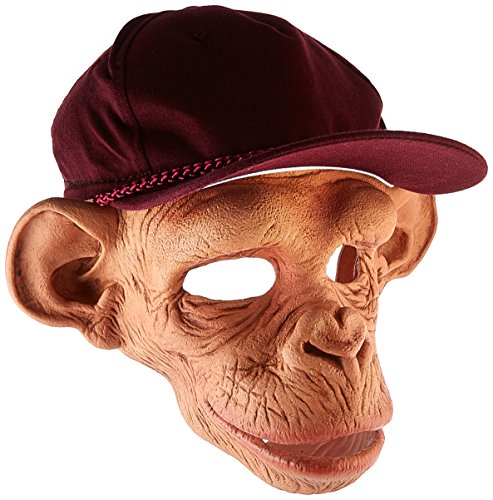 [Zagone Chee-Chee Monkey Mask, Silly Monkey with Baseball Hat] (Monkey Halloween)