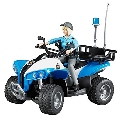 Bruder Quad with Policewoman & Accessories