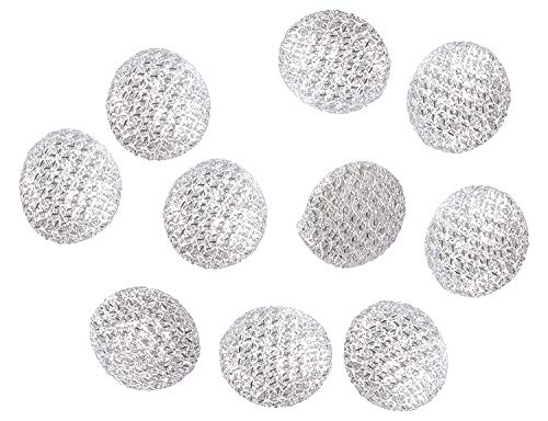 - Goelx Sparkling Gota Fashionable Designer Sewing Buttons for Sherwani, Kurti, Suits, Shirts & Dresses - Silver - Pack of 20