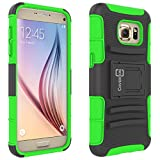 Galaxy S7 Case, CoverON® [Explorer Series] Holster Hybrid Armor Belt Clip Hard Phone Cover For Samsung Galaxy S7 Holster Case - Neon Green & Black