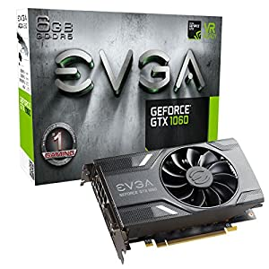 EVGA GeForce GTX 1060 Gaming, ACX 2.0 (Single Fan), 6GB GDDR5, DX12 OSD Support (PXOC) 06G-P4-6161-KR