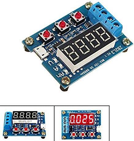 Azul TOOGOO Capacidad de la Bater/ía T Medidor Probador de Descarga 18650 Li-Ion Litio Plomo-S Horas 1.2-12V