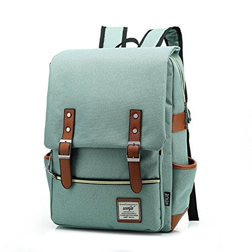 895e6df336de TININNA Unisex Vintage Canvas Backpack Satchel Rucksack Daypack Shoulder School  Bag Schoolbag for Women Ladies Girls Light Green - Buy Online in UAE.