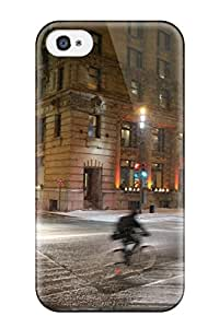 New Sur La Rue Mcgill Dans Le Vieux Montreal Tpu Skin Case Compatible With Iphone 4/4s