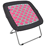 #5: REDCAMP Folding Bungee Web Chair for Teens Kids Adults,31x31.5x31.5 inches,Grey&Pink
