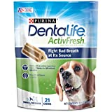 Purina DentaLife Small/Medium Breed Dog Dental Chews; ActivFresh Daily Oral Care Small/Medium Chews - 21 ct. Pouch