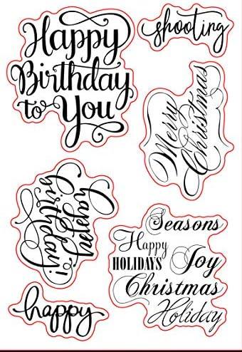 Sellos de felicitación de Navidad con texto en inglés ...