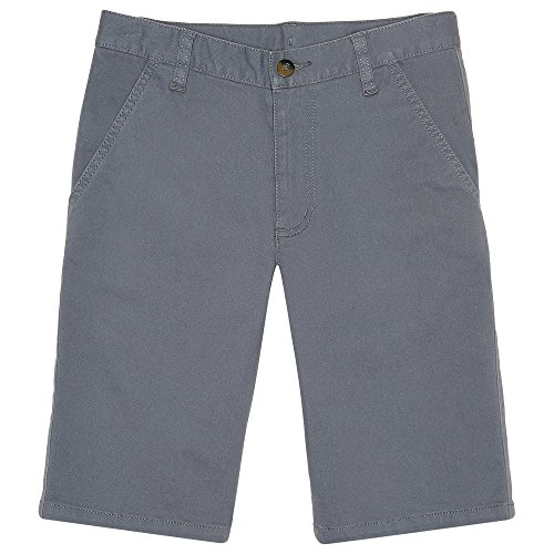 French Toast Boys' Little Stretch Chino Short, Blue Steel, 7 by French Toast