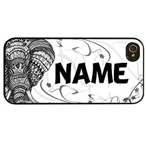 Cover for Iphone 5 5S Elephant Vintage art personalised name pattern Phone case