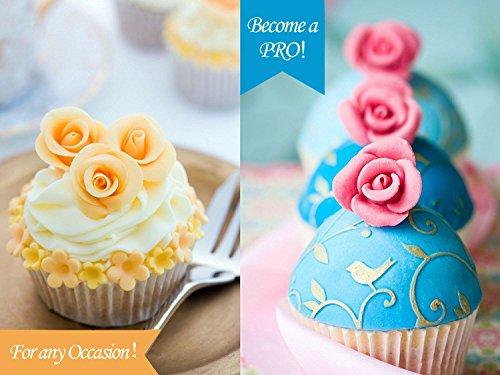 Gum Glue Cake Decorating : The Easiest Roses Cutter Ever & Cake Decorating Gum Paste ...
