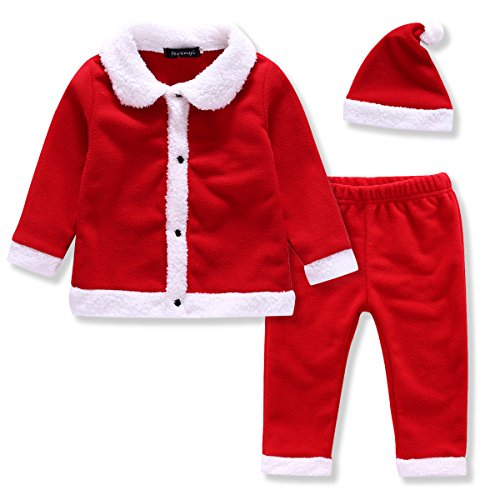 [Ferenyi US Baby Boys Christmas Clothes Babys' 3 Piece Hat,Jacket, and Pant Sets (0-6 months, Dark] (Hats 4 U)