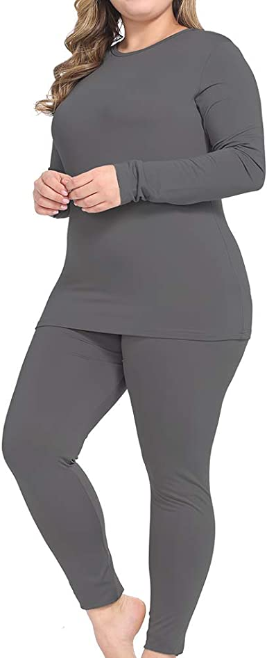 Womens Ultra Soft Thermal Underwear Sets Long Johns Base Layer Top /& Bottom with Fleece Lined