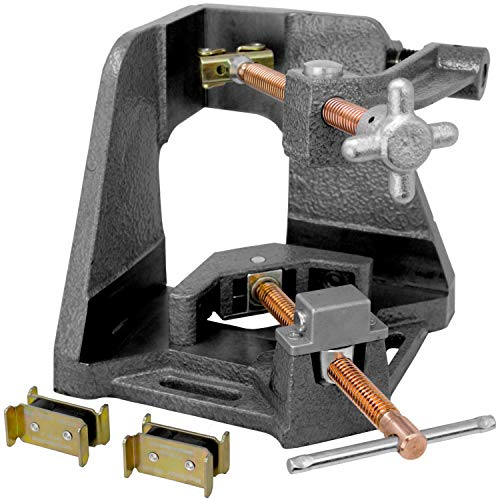 Strong Hand, 3-Axis Fixture Vise with Quick Acting Screw, Two Stand-Offs, Swing Away Arm with 3.75-Inch Miter Joint, 2.45-Inch T-Clearance - WAC35-SW