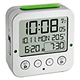 Blooming Weather ''Bingo Funkwecker'' Digital Alarm Clock with Radio-Controlled Time, Plastic, Silver