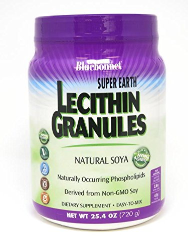 Bluebonnet Super Earth Lecithin Granules, Natural Soya, 25.4 oz - Natural Soya Lecithin