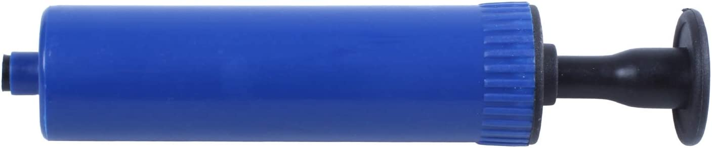 Camisin Football Soccer Inflatable Ball Hand Air Pump with Needle Blue
