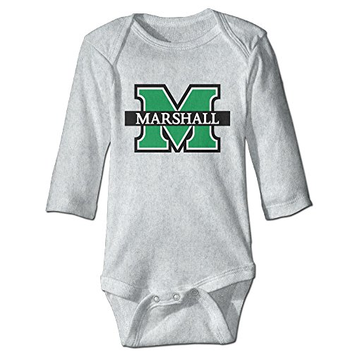 Price comparison product image OOKOO Baby's Marshall University Logo Bodysuits Ash 18 Months