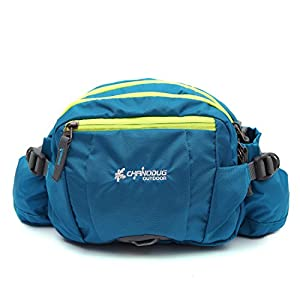 CHANODUG Durable Outdoor Waist Pack Water Bottle Holder,Travel Waist Belt Bag Pack Cover (BLUE)