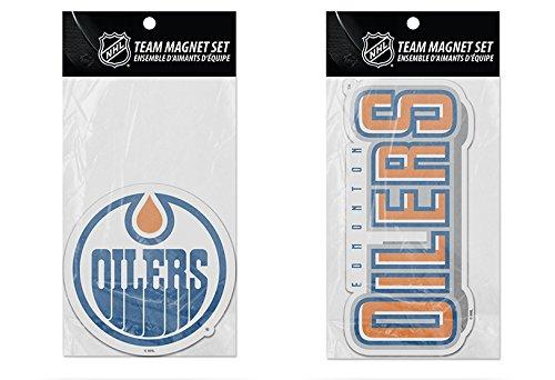 - Rico Industries NHL Edmonton Oilers 2-Pack Die Cut Team Logo Magnet Set