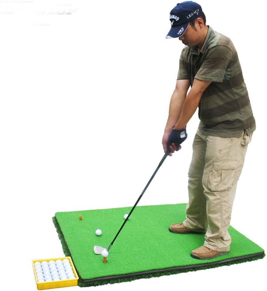 屋内ゴルフグリーンマット 3d厚い滑り止めゴルフパターエクササイザーポータブルポータブルミニゴルフ人工グリーンパッティングマット付きプロフェッショナルグリーングラス ゴルフパターパッド (色 : 緑, サイズ : 1.2*3.8M) 緑 1.2*3.8M