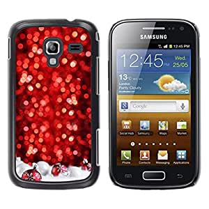 iKiki Tech / Estuche rígido - Chrismas Red Tree Decorated White - Samsung Galaxy Ace 2 I8160 Ace II X S7560M