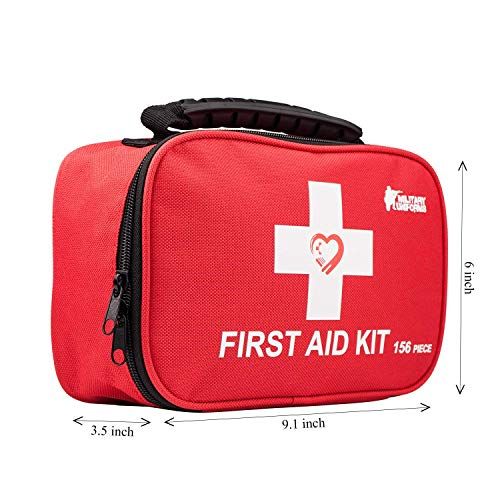 (First aid kit,All-Purpose aid kit and Compact Emergency kit First aid for Office,aid Kit Medical for Outdoors,Travel Medical kit,Hiking First aid kit and Camping Emergency kit,Home First aid)