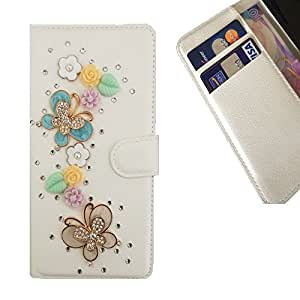 Cat Family Crystal Diamond Waller Leather Case Cover - FOR sony Xperia T3/M50W CASE Cover ,sony Xperia T3/M50W case,sony Xperia T3/M50W hard case,sony Xperia T3/M50W cover ,sony Xperia T2 Ultra/XM50h Leather Case - Fly Way Butterfly Flowers -