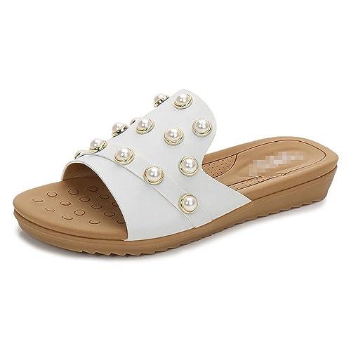 Aqua Femmes Loisirs Sauvage Chaussures pour Femmes Aqua Perles Boucle Plat 39c5a8