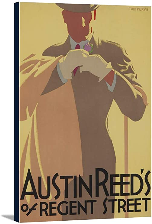 Amazon Com Austin Reed Vintage Poster Artist Purvis 24x36 Gallery Wrapped Stretched Canvas Posters Prints