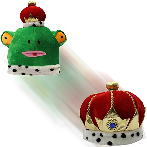 [Costume Hats - Reversible Hat - 2 in 1 Prince & Frog Hat - Novelty Hats by Funny Party Hats] (Prince Frog Costumes)