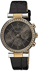 Kenneth Cole New York Multifunction With Brown Croco Embossed Strap Women S Watch Kc2747