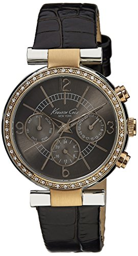 Kenneth Cole New York Multifunction with Brown Croco-Embossed Strap Women's watch #KC2747 ()